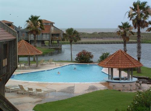 View from Deck of Pool, Lagoon & Gulf