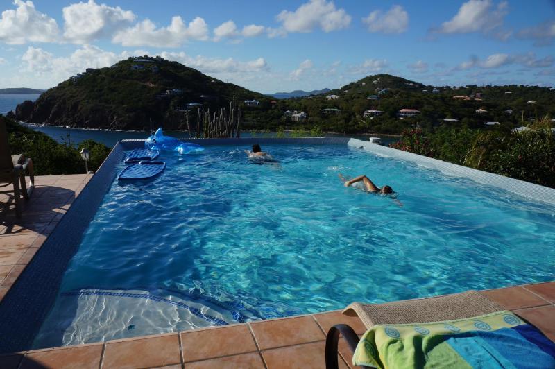our infinity pool is spacious enough to swim laps