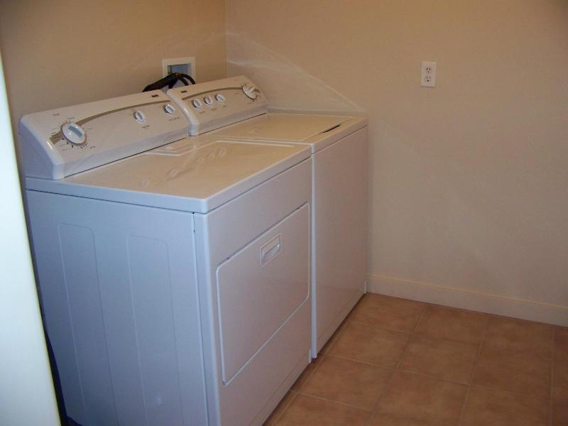 Washer and Dryer room in the townhome.