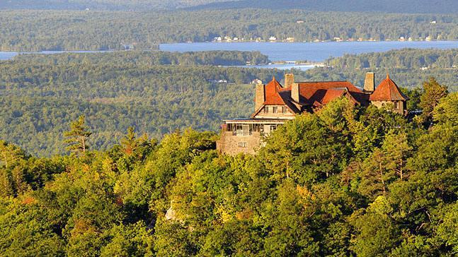 The Castle Mansion Sits Is Perched High On A Pristine Mountaintop Estate Overlooking The Lake.