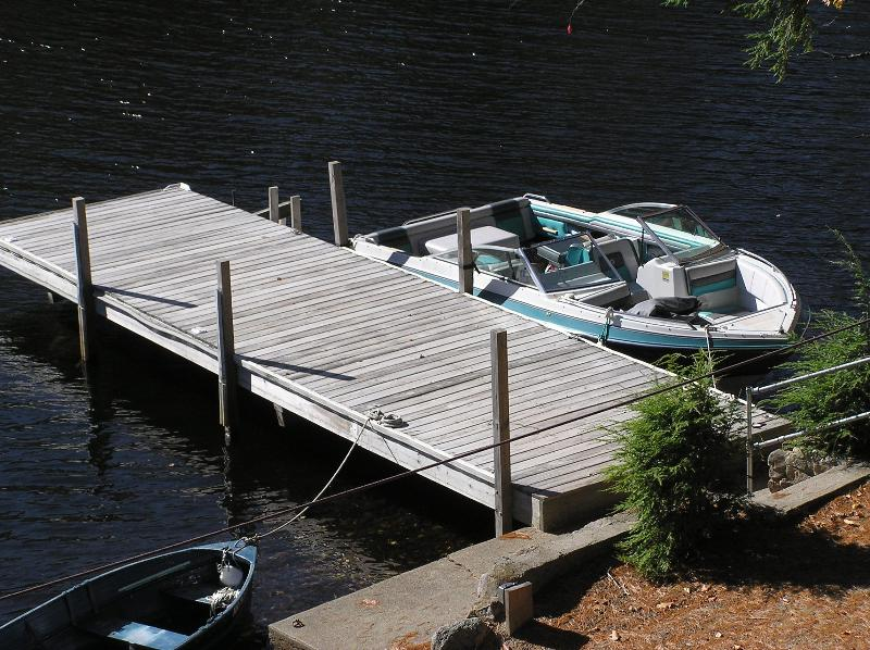 40\' Deepwater Dock Can Store 2 Boats. 20\' Four Winns IO Shown Here.