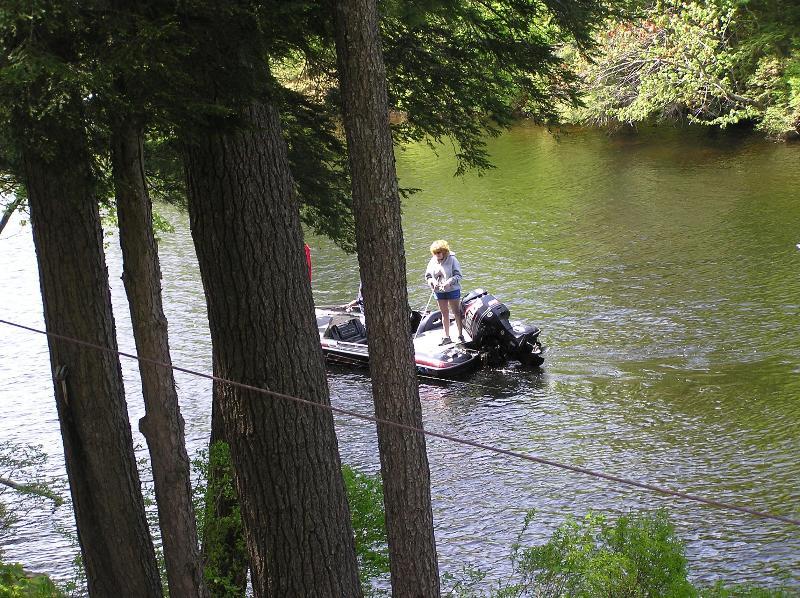 Bass Fishing Boats Are Often Seen Fishing Near The Shore.