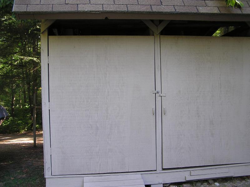 The Door On The Left Is The Tenant Storage Shed.