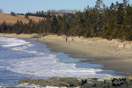 Rissers Beach 2 KM from Crescent Cove Cottage
