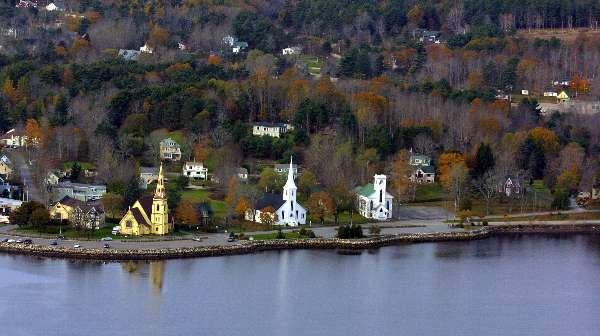 The Town of Mahone Bay a short drive away