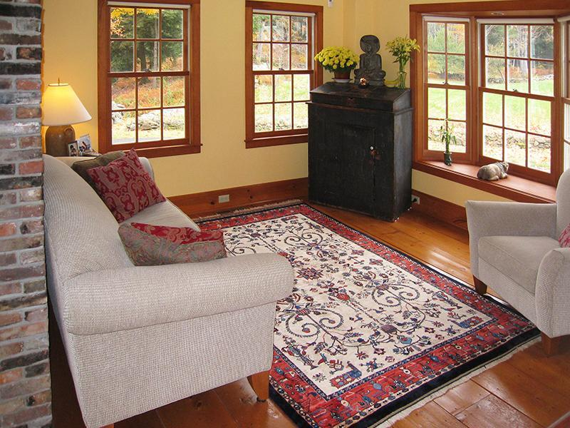 Haven Homeplace Living Room with views toward the Fields