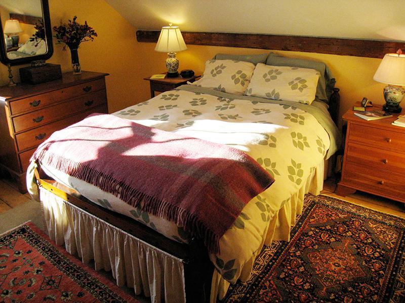 Bedroom #2 with Full Tempurpedic Converted Shaker Rope Bed
