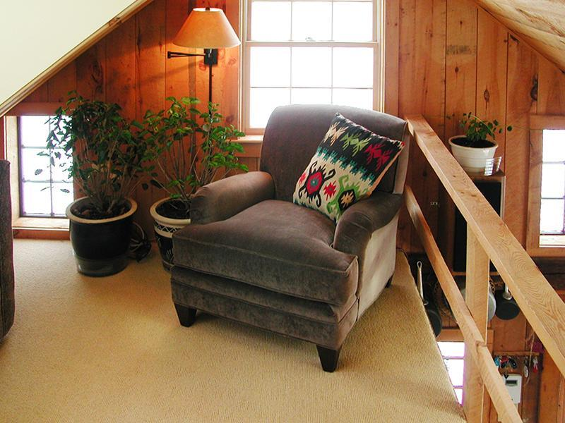 The Reading Loft's comfy Club Chair above the Kitchen