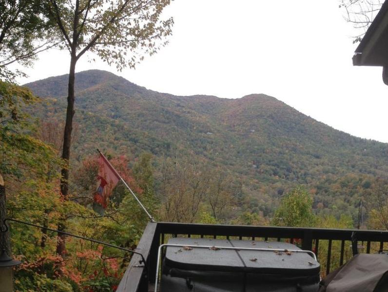 View from the hot tub early October