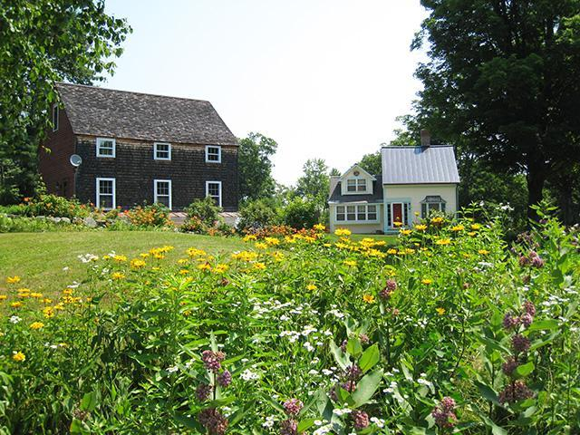 The Haven Cottage and Barn through Summer Wildflowers