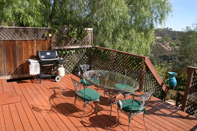Barbque deck area