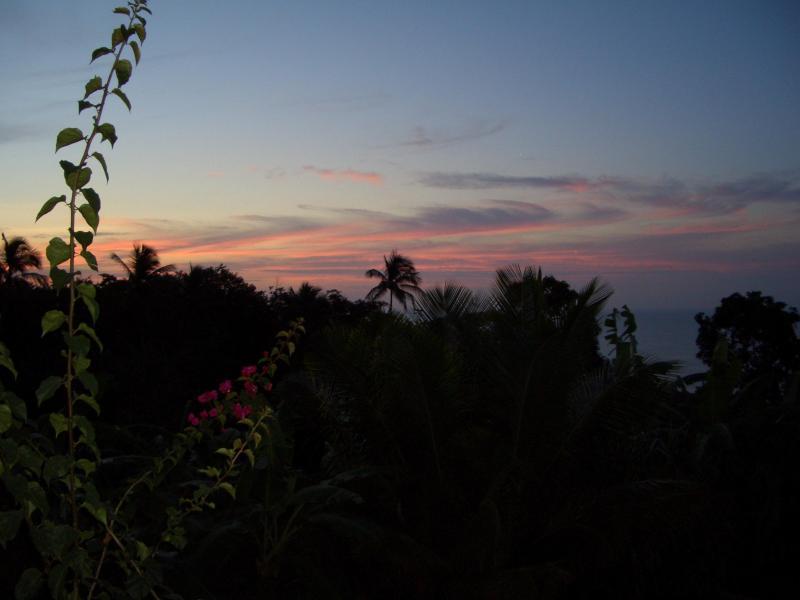 Sunset from the verandah