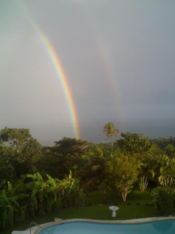 Morning double rainbow from master suite