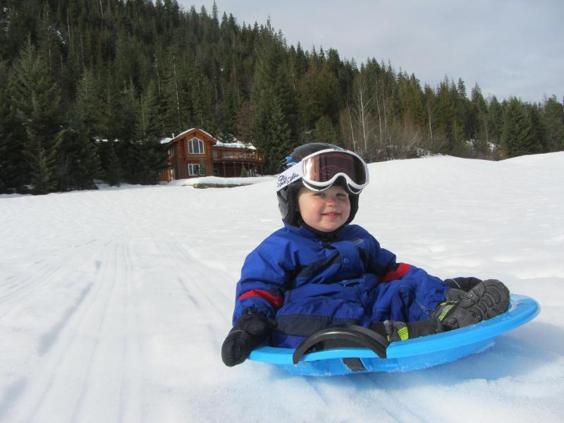 Great sledding for the kids