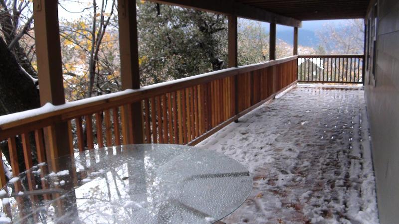 Lower wrap around deck outside game room and bedrooms 5 & 6.