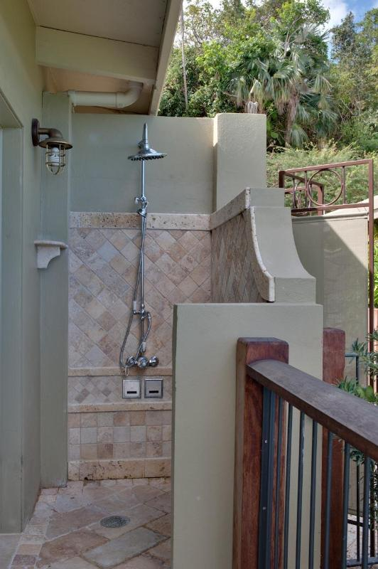 North Bedroom outdoor shower