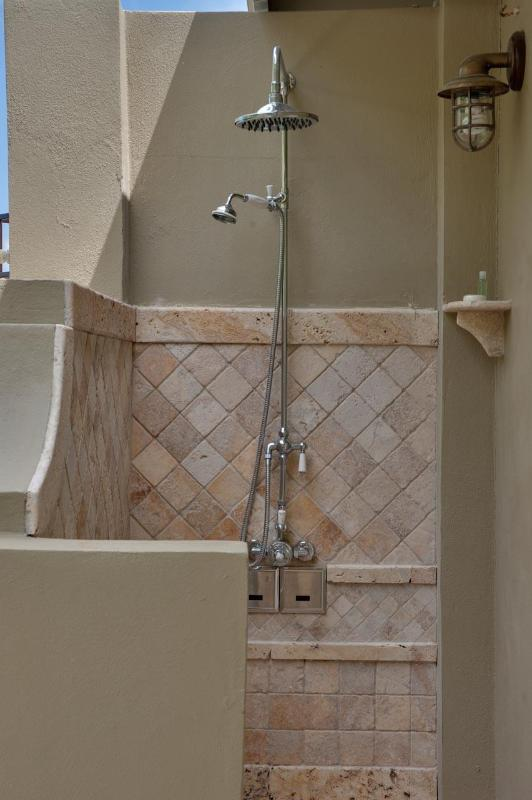 South Bedroom outdoor shower