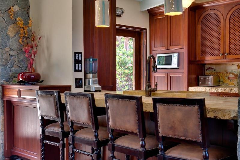 Eiland stenen Toscaanse stijl keuken prep teller