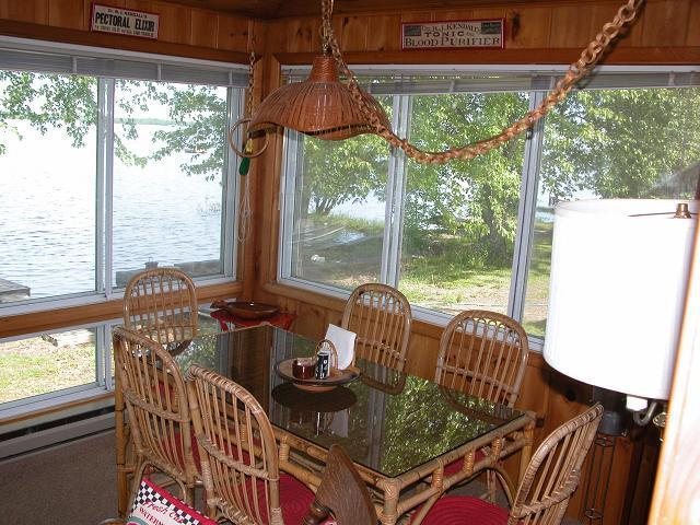 View of Breakfast Area on Lakeside Porch