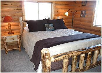 Master bedroom with king bed at Cabin