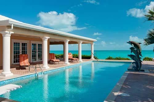 42 foot pool overlooking the beach and ocean