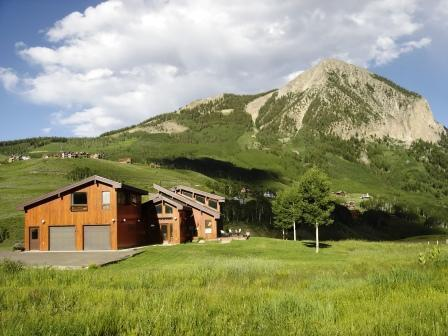 View of 'The Lily' from the West with Mt. Crested Butte in the Background.