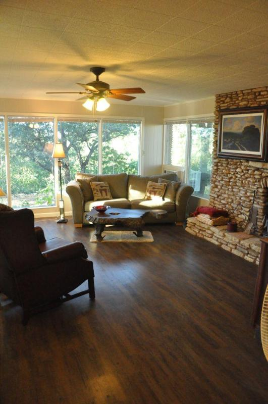 Large living area with comfortable seating