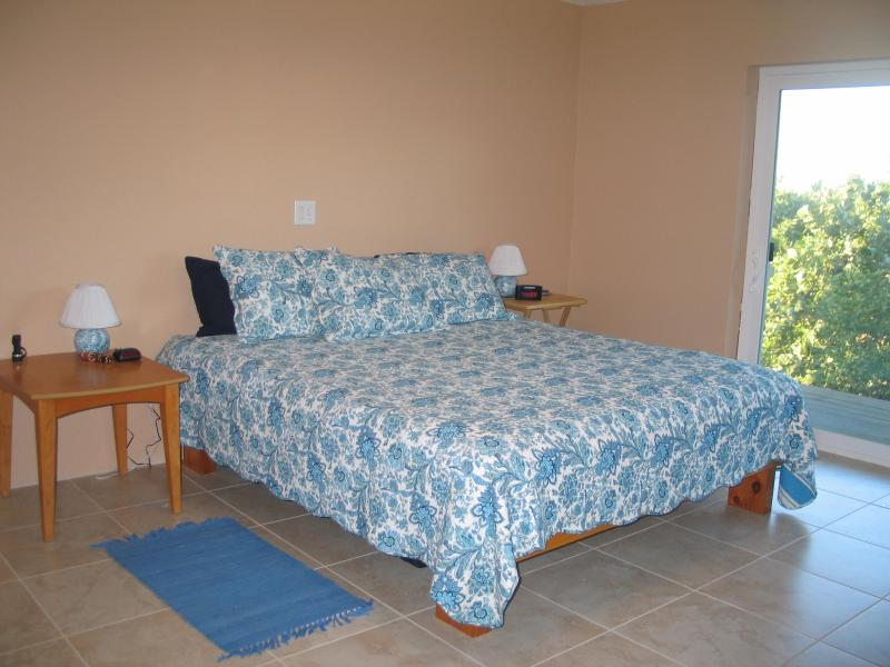 Quarto - cama King e sofá-cama individual.