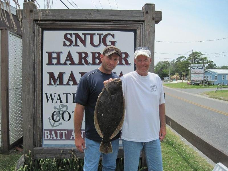 Angeln in Snug Harbor ist großartig!