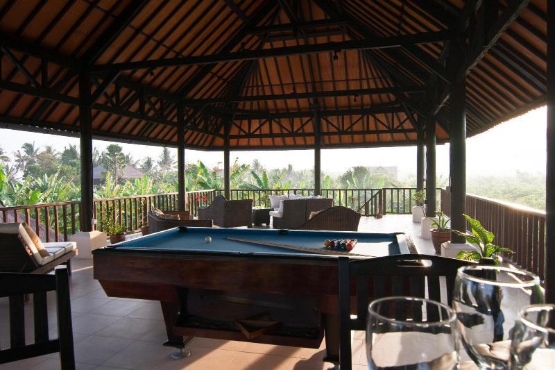 view of the veranda from the mini bar furniture