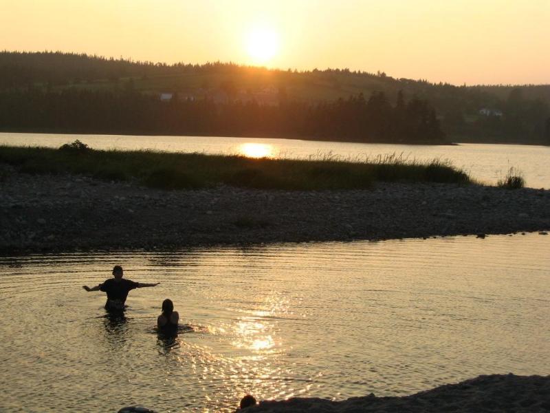 Natación en el lago de Romkey