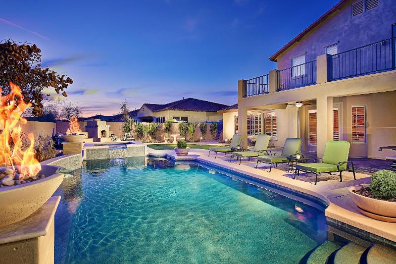 Resort Style Backyard with  Heated Pool and Spa!
