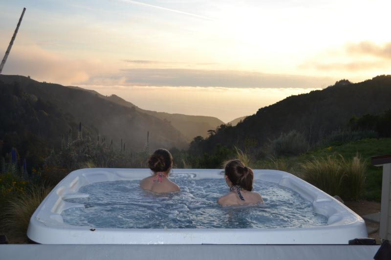 El Apartamento Hot Tub....La Casita has its own. Best part of sunset and this isn't Photoshopped....