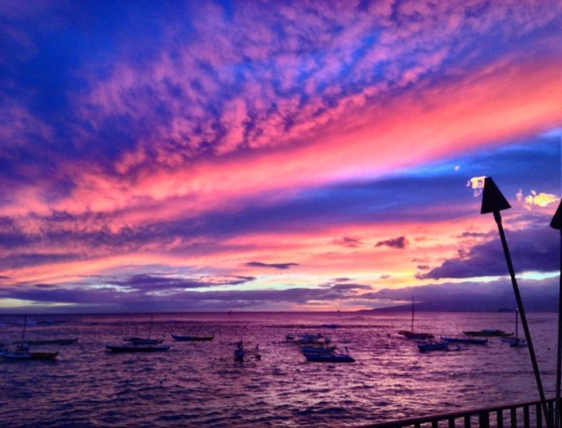 Sunset of Waikiki Beach