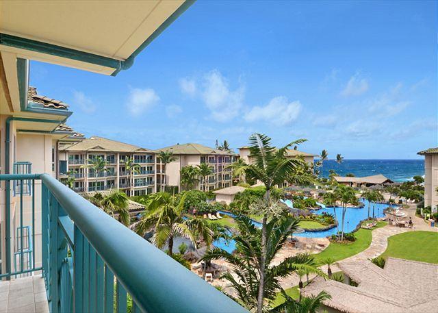 OCEAN VIEW PENTHOUSE D402 **AC**  Resort Pool & Restaurant, vacation rental in Kapaa