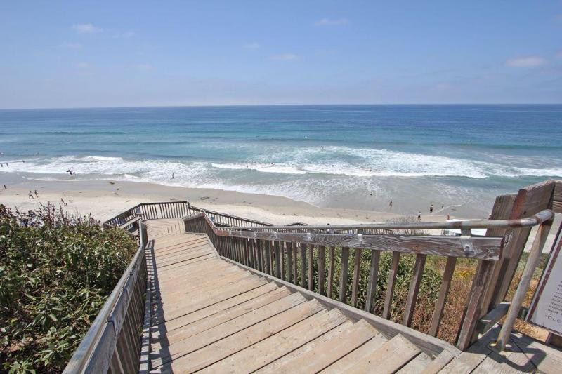 Steps to  fantastic Carlsbad State beach.