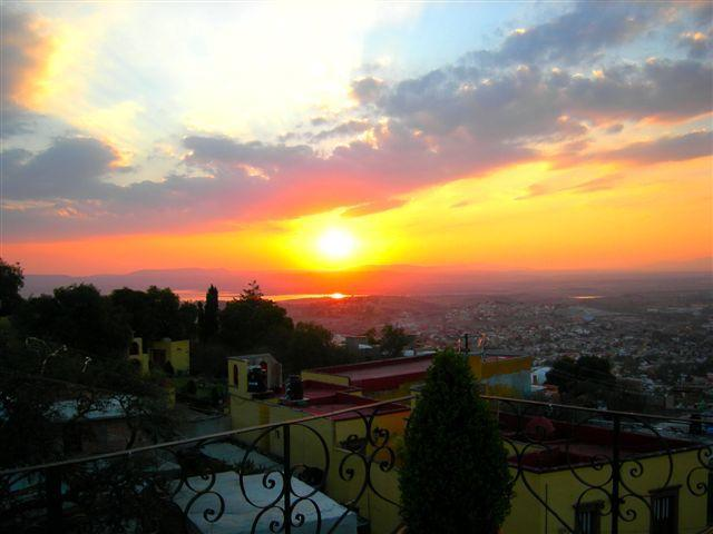 Sunset View from the terrace at Casa de Angel