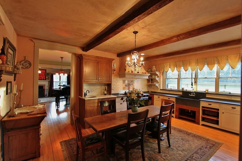 French Country kitchen with wet bar.....