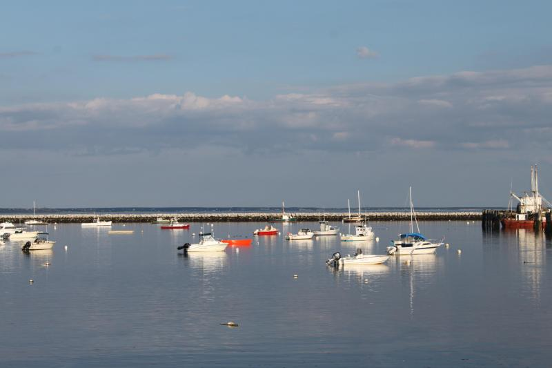 Provincetown Harbor view from our shared deck