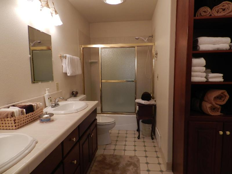large bathroom for Master bedroom and second bedroom