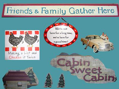 Idle Hours, Chic Cabin Kitsch! Family and Friends Reunite