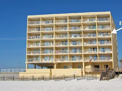 Building from Beach, we are 4th floor on right.