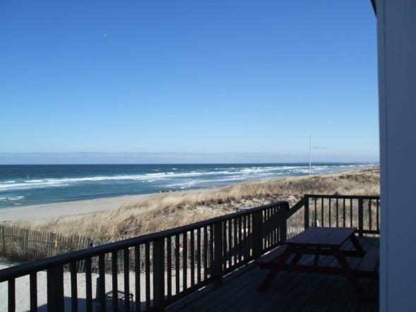 Panoramic Views Of East Sandwich Beach and Cape Cod Bay from the Home's Ocenfront Deck