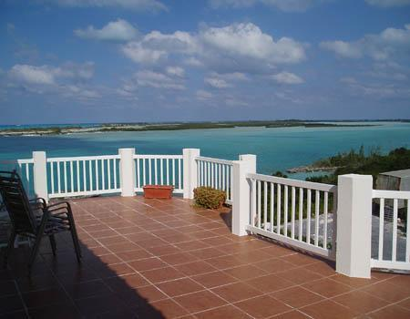 The spacious balcony. The offshore islands are a marine reserve, just a short kayak ride away.