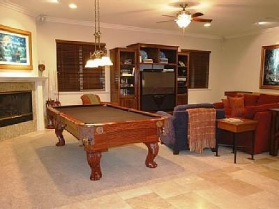 Play Pool, Shuffle Board, and Enjoy Big Screen Tv.