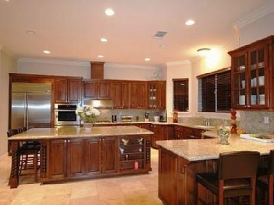 Huge Kitchen with lots of room for family meals.