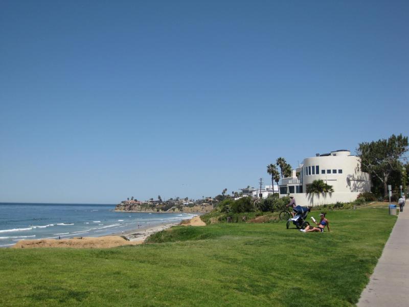 Palisades park; just around the corner, overlooking the beach