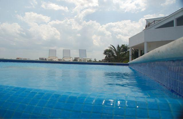 infinity edge Pool view of villa 2nd floor Terrace