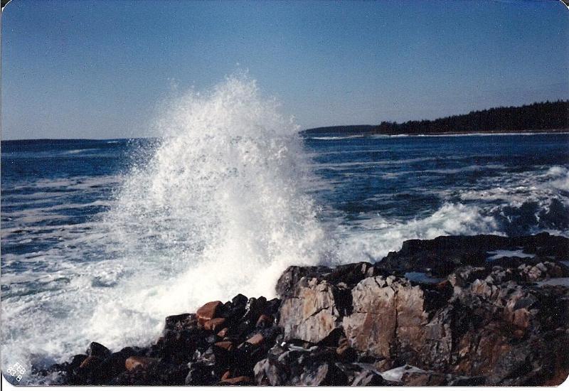 Back shore of island
