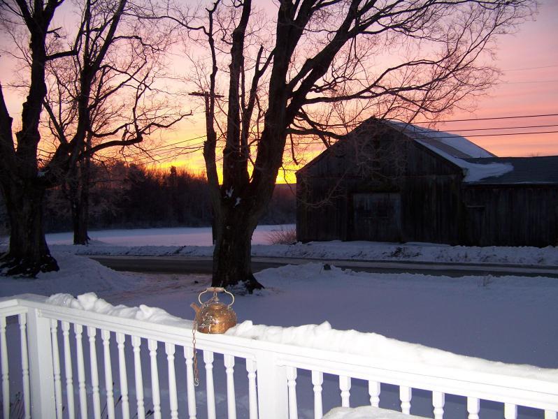 Más invierno salida del sol